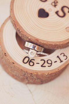 Wedding date wood keepsake for rings! Great Idea for nightstand! Or great presenting ring box Wedding In The Woods, Our Wedding, Dream Wedding, Purple Wedding, Ring Holder Wedding, Wedding Rings, Lake Tahoe Weddings, Wedding Boxes, Here Comes The Bride