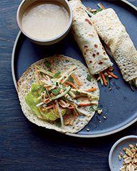 Paul Qui's Filipino Salad Crêpes - recipe gets flavor from green mango, coconut vinegar, fresh herbs and more.