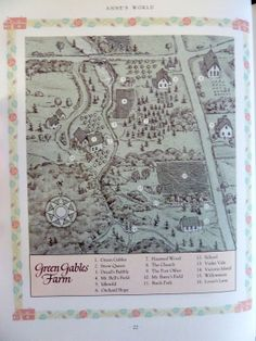 """Green Gables map from """"The Anne of Green Gables Treasury."""" I want to mod podge this to a table top and put it in my library someday."""