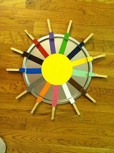 Teaching colors and working on fine motor all in one...I'm going to have to do one of these!