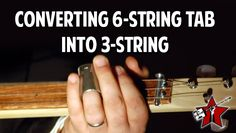 Converting a 6 string tab into a 3 string