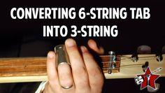 Converting a 6 string tab into a 3 string – Cigar Box Nation