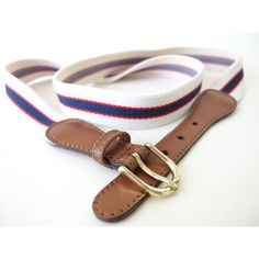 Vintage 1980's Red, White and Blue Striped Stretch Elastic Belt,... ($10) ❤ liked on Polyvore featuring stretch belt, stretchy belts and elastic belt