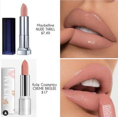 Maybelline New York Color Sensational Nude Lipstick Matte Lipstick, Nude Thrill, Ounce (Pack of Nude Lipstick, Lipstick Colors, Lipstick Dupes, Lipstick Shades, Makeup Lipstick, Orange Lipstick, Drugstore Makeup Dupes, Matte Lipsticks, Kylie Lipstick Swatches