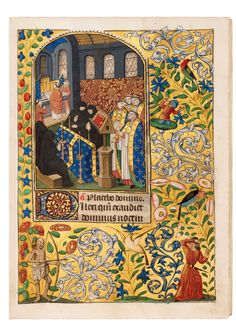 workshop of Master of the Échevinage of Rouen France, Dupont Book of Hours<br /> Manuscript in Latin and French on vellum<br /> <br /> 1470-1480
