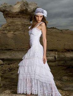 Modelos de Vestidos de Noiva Hippie Chic