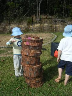 let the children play: just add stones, logs, stumps and mounds.