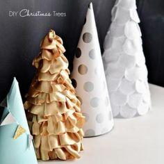 Paper, Fabric & Felt Christmas Trees {christmas diy}