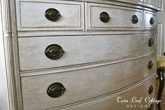 Twin Leaf Cottage: Vintage Dresser Makeover - Homemade Chalk Painting Tips