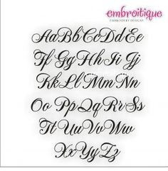 """All Products - Emily Monogram Set - Sizes: .5"""", 1"""", 1.5"""", 2""""  Satin Stitch (Uppercase, Lowercase, Numbers)"""