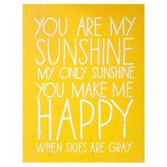 Check out this item at One Kings Lane! Handwritten You are My Sunshine