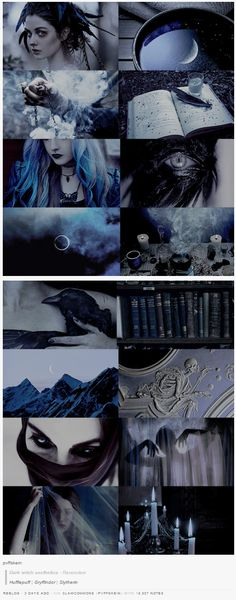 pvffskein: Dark witch aesthetics - Ravenclaw
