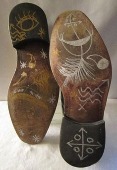 """Unda Wata Man's Shoes"" by Tosha Grantham (Translation: ""Shoes for Walking in a Parallel Universe"")"