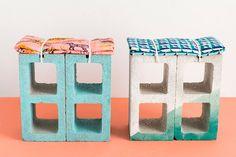 DIY: concrete block stool / Faça você mesmo: banco de bloco de concreto