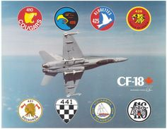 CF-18 Squadrons Poster