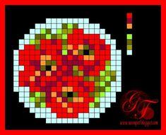 Схемы: Схема вышивки Poppy