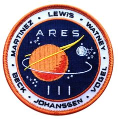Martian Movie Space Exploration Unknown Universe NASA Crew Uniform Patch