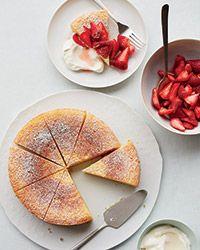 Ricotta-Orange Pound Cake with Prosecco Strawberries  via Giada De Laurentiis