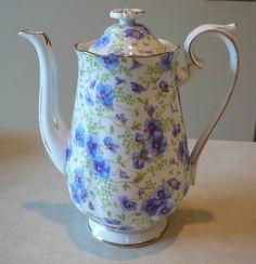 ROYAL ALBERT BLUE PANSY CHINTZ COFFEE POT   eBay