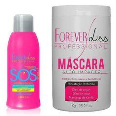 sos + máscara alto impacto 1kg hidratante bn - forever liss