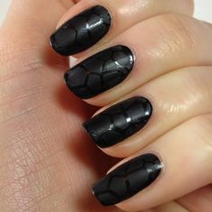 Black nail polish looks strong, youthful, powerful, and deliberate. What's your reason?