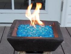 Recycled Garden Glass Mulch - Can be used in the fire pit or as mulch for your landscaping