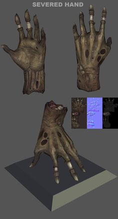 ArtStation - Dismembered Hand, Josh Singh