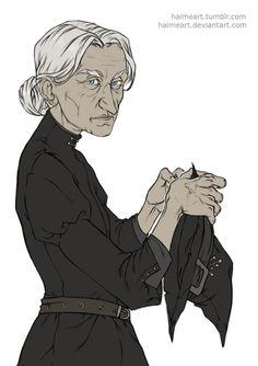 "Esmerelda ""Granny"" Weatherwax from ""Equal Rites"" by Terry Pratchett"