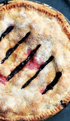 Blueberry Ginger Pie recipe: These two flavors just belong together.