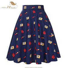 SISHION Skirts Sexy American Apparel Midi Skirt Floral Dot Black Red Blue Summer High Waist Skirt Tutu