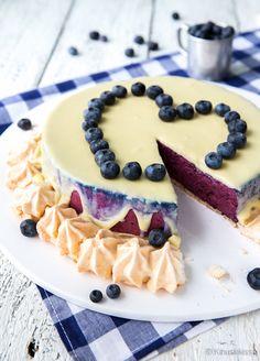 Marenki-mustikkakakku / tästä herkku korvaten vaniljavanukas esim. jogurtilla