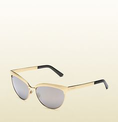 Gucci gold endura cat-eye sunglasses