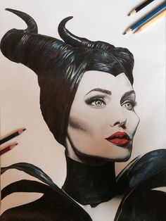 Maleficent pencil drawing by me :)