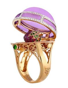 "The Gryphon's Nest — Faberge Egg ""Surprise"" Ring"