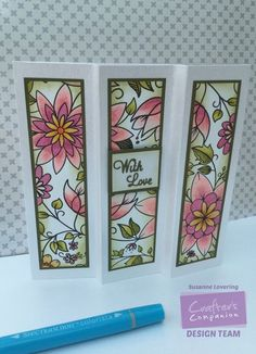 8x8 Card made using Spectrum Noir Colorista Exquisite Floral pad and Spectrum Noir Colorista pens. Designed by Susanne Lovering #crafterscompanion #tutorial