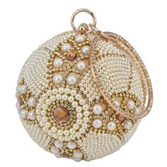 Trendy Hard Case Women Evening Bag Purse Clutch Gold w Silver Beading 980048 Silver Clutch, Beaded Clutch, Clutches For Women, Clutch Purse, Bridal Accessories, Bowling, Silver Beads, Tote Handbags, Evening Bags