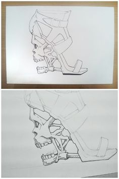 #mcqueen inspired skull shoe. #sketch #design #skull