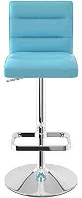 Deluxe Chrome Bar Stool (Blue) Chrome Bar Stools, Chair, Blue, Furniture, Home Decor, Recliner, Homemade Home Decor, Home Furnishings, Decoration Home