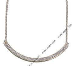 Arc Shape Gold Color Alloy Necklace for Jewelry Decoration