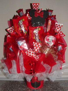MICKEY or MINNIE MOUSE Candy Bouquet Centerpiece by CandyFlorist, $29.95