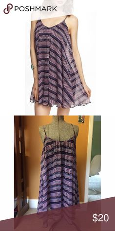 Express Batik Print Trapeze Dress Sz XS Excellent used condition. Adjustable straps. Easy to dress up or down. Size XS Express Dresses Mini
