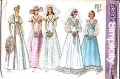 1970s Wedding and Bridesmaid Dress pattern