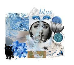 """""""Blue"""" by plumsandhoneyvintage ❤ liked on Polyvore featuring art, Blue, fantasy, artexpression and artspirit"""