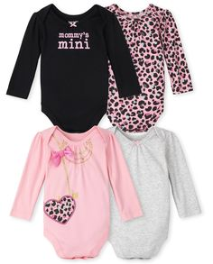 Kids Girls, Baby Girls, Baby Cereal, Long Sleeve Bodysuit, Girls Night, Rib Knit, Girl Outfits, Rompers, Girl Things