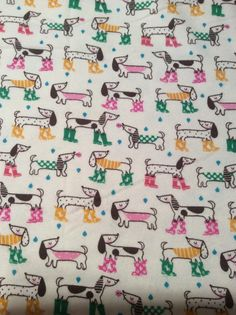 Hey, I found this really awesome Etsy listing at https://www.etsy.com/listing/256944722/dog-flannel-dachshund-flannel-fabric
