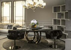 Dining table by fendi casa