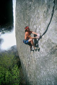 Ron Kauk climbing M