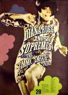 DIANA-ROSS-AND-THE-SUPREMES-German-A1-1968-concert-poster-GUNTHER-KIESER-Art
