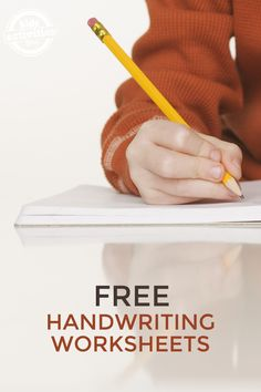 10 Free Handwriting Worksheets. We found a bunch of worksheets for kids of all ages from preschoolers to older kids learning cursive. Click now!