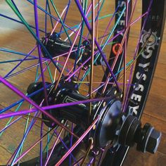 We just built these dialled wheels for a happy customer. @colonybmxbrand Wasp hubs laced with @colonybmxbrand rainbow spokes to @odysseybmx Hazard lite rims. #bmx #bmxwheels #colonybmxbrand #odysseybmx #hazardliterim #odysseyhazardlite #strictlybuild #custombmxwheels #bmxstore #bmxshop